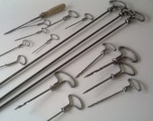 Set of 17 gimlets hand drills french vintage tool
