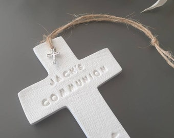 Communion Favors ~ Clay Cross Favor ~ Holy Communion ~ 1st Holy Communion ~ Baptism Favors ~ Christening Favors