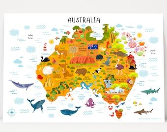 Classroom Decor Africa Map Printable Art Classroom Poster | Etsy