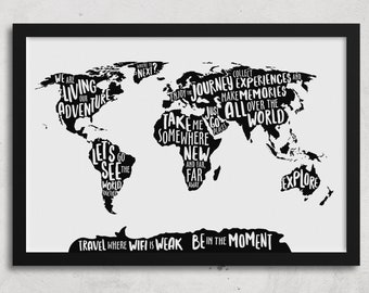 Office Wall Art, World Map Wall Art, Office Wall Decor, World Map Canvas, World Map. Minimalist Wall Art, Modern Wall Art