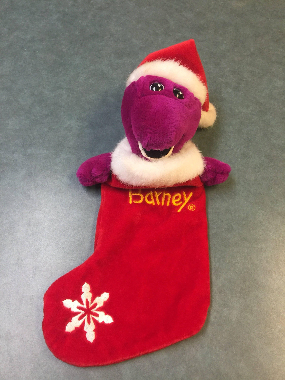 Barney Stocking. Vintage Barney. Vintage Christmas Stocking.   Etsy