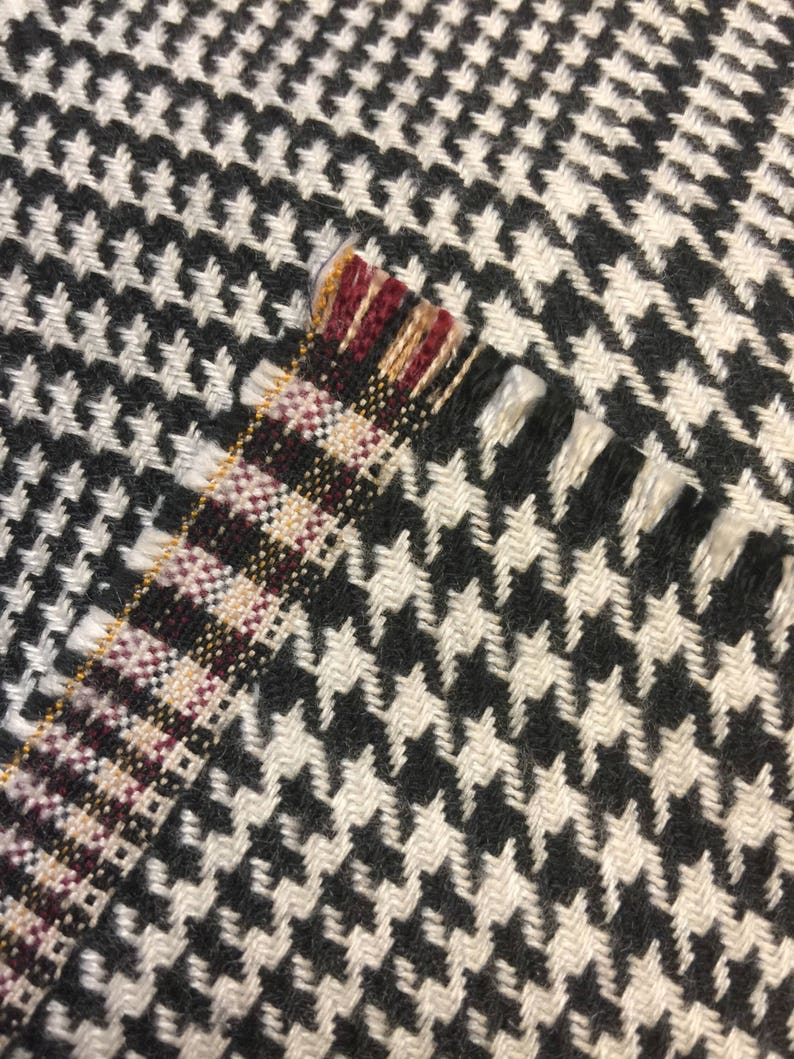 Derby Hat Fabric. Black Houndstooth Fabric Vintage Houndstooth Fabric Vintage Plaid Fabric Houndstooth Fabric Vintage 12 yd