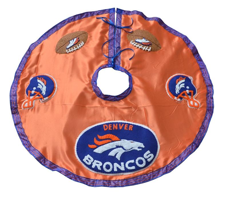 Denver Broncos Football Christmas Tree Skirt | Etsy