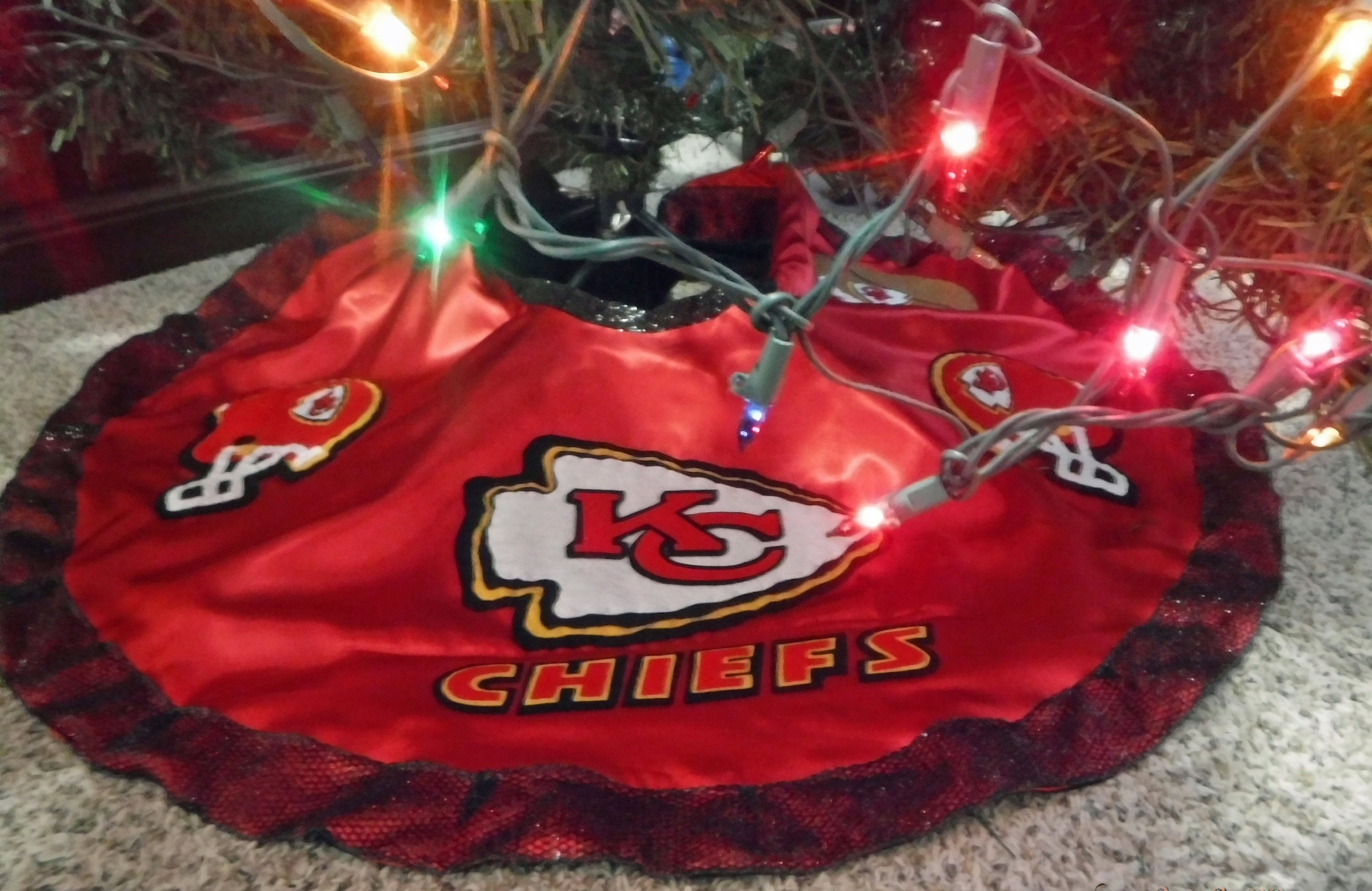 fc7f83381d6 Kansas City Chiefs Football Christmas Tree Skirt