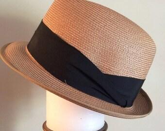 ec90fb456386d Vintage Fedora Braid Hat