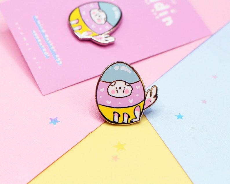 Easter Pin  Puddin The Dog Enamel Pin  CuteDog Enamel Pin  image 0
