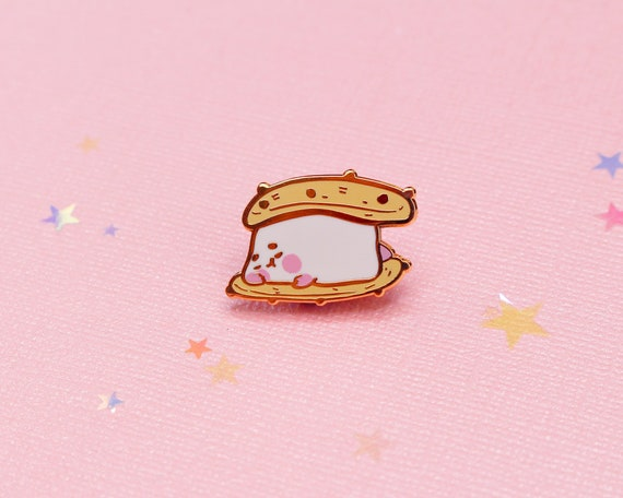 Cute Pink Girl Love Heart Sleep Enamel Pin Pins Badge Badges Funny Quotes