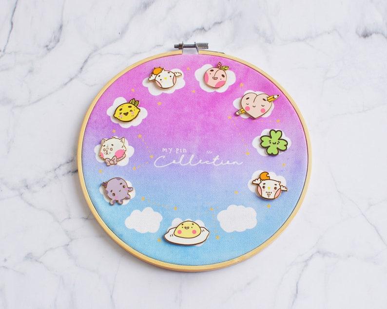 Pin Display - Cute Enamel Pin Board - Enamel Pin Hoop - Enamel Pin  Collection Display - Custom Pin Display - Pindisplay - Custom Pin Hoop