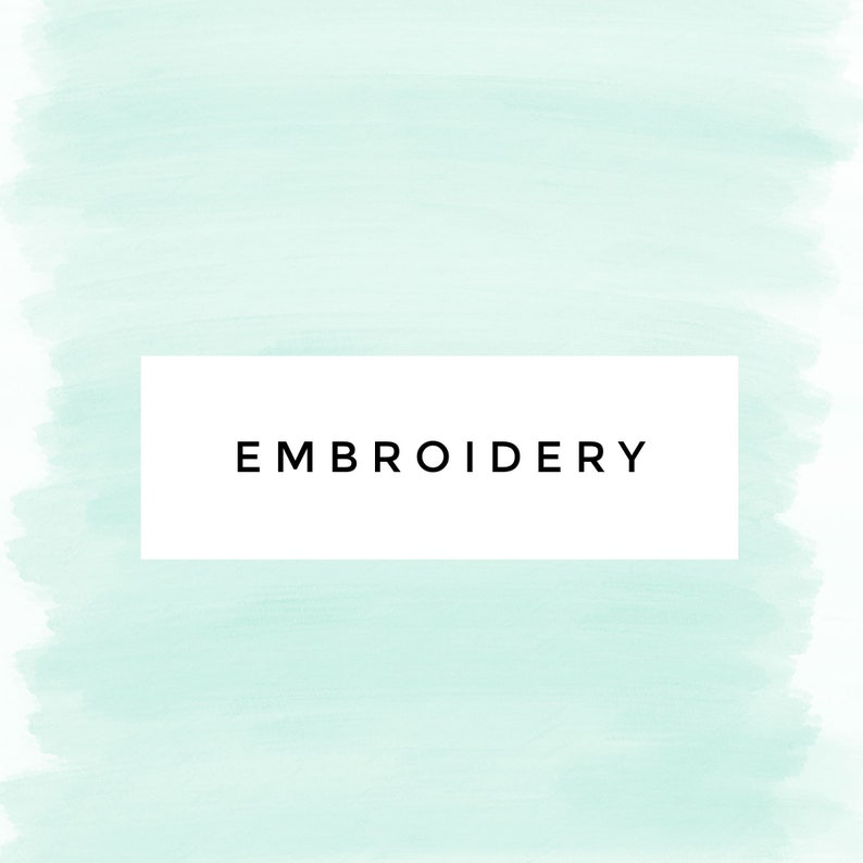 Embroidery Add-on Only image 0