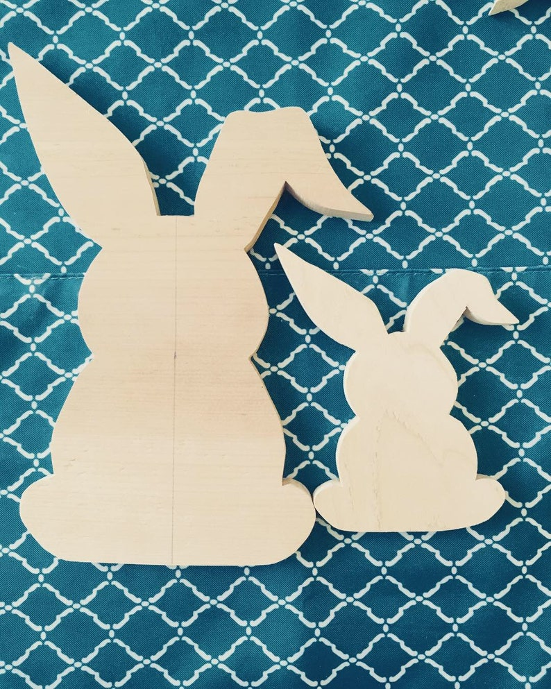Farmhouse Spring Decor Easter Bunnies Easter Wooden Decor Diy Stencils Ready To Paint Wood Spring Eggs Shabby Chic Decor Rustic Spring House