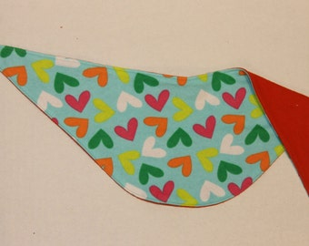 Heart Patterned Drool Bandana