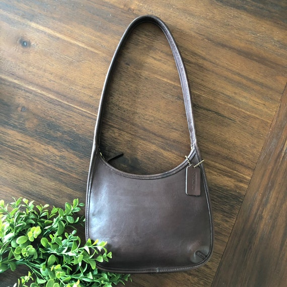 Vintage 1990s Brown Leather Coach Ergo Legacy Bag