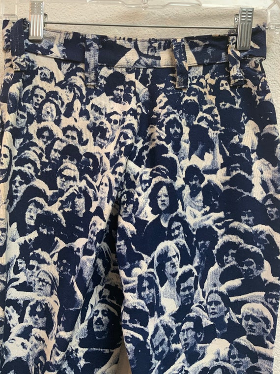 70s vintage Woodstock crowd print very rare small