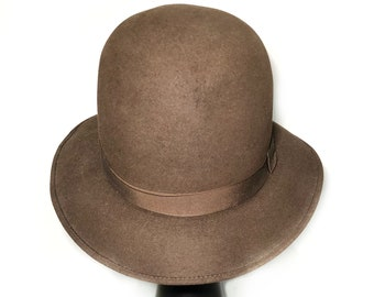 1950s willoughby brown felt hat