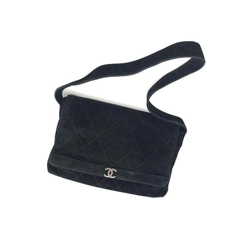 ca7fde6515bf Chanel vintage suede shoulder bag | Etsy