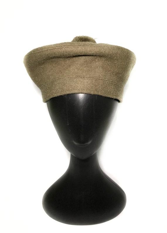 1960s wool green beret - image 4