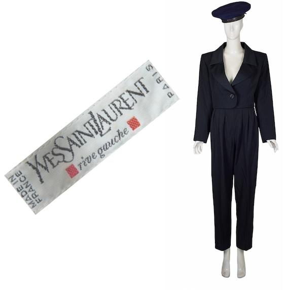 Yves saint laurent two piece pant suit 1980s
