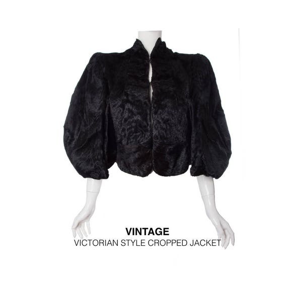 Victorian style fur cropped short coat