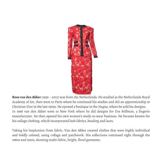 Vintage Koos van den Akker  skirt suit, KOOS COUTU