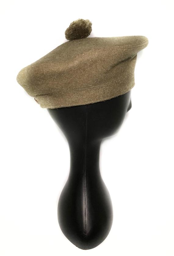 1960s wool green beret - image 8