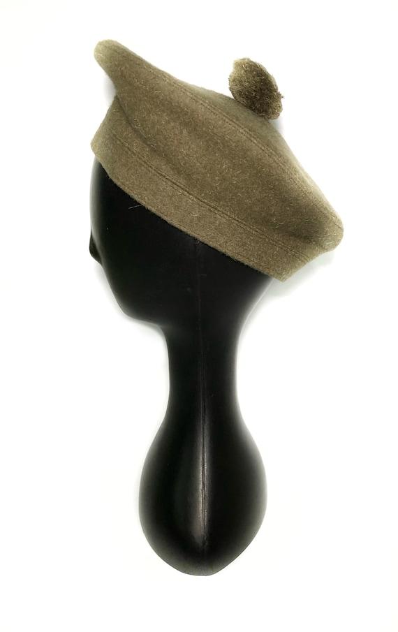 1960s wool green beret - image 3