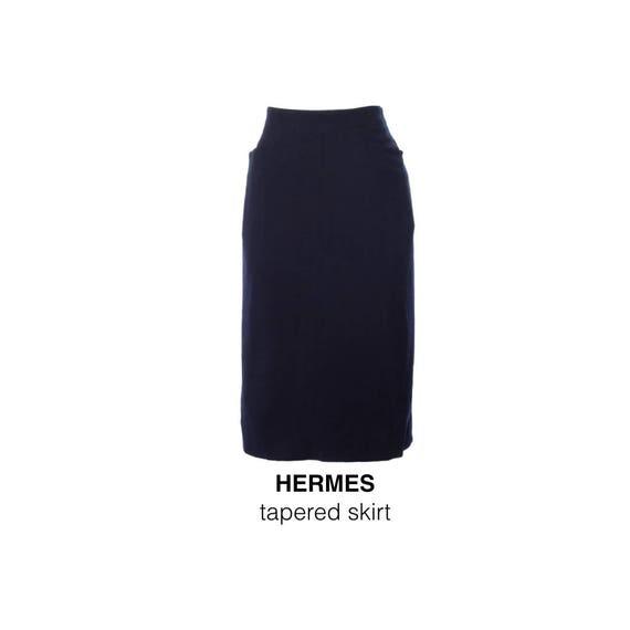 Vintage blue hermes tight skirt 1980s #hermes #her