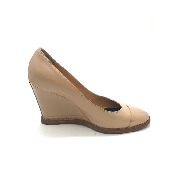 Chanel Beige Wedges Pumps