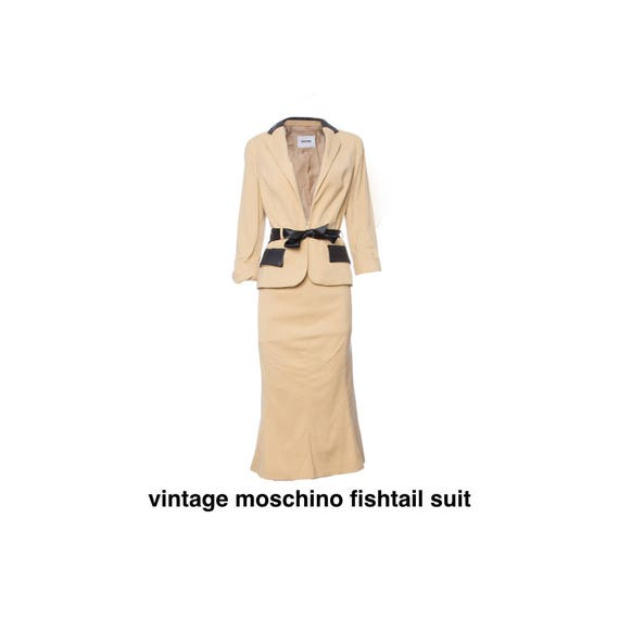 Vintage moschino Cheap & Chic fishtail suit