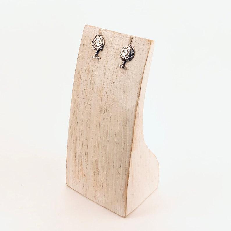 Globe Sterling Silver Stud Earrings