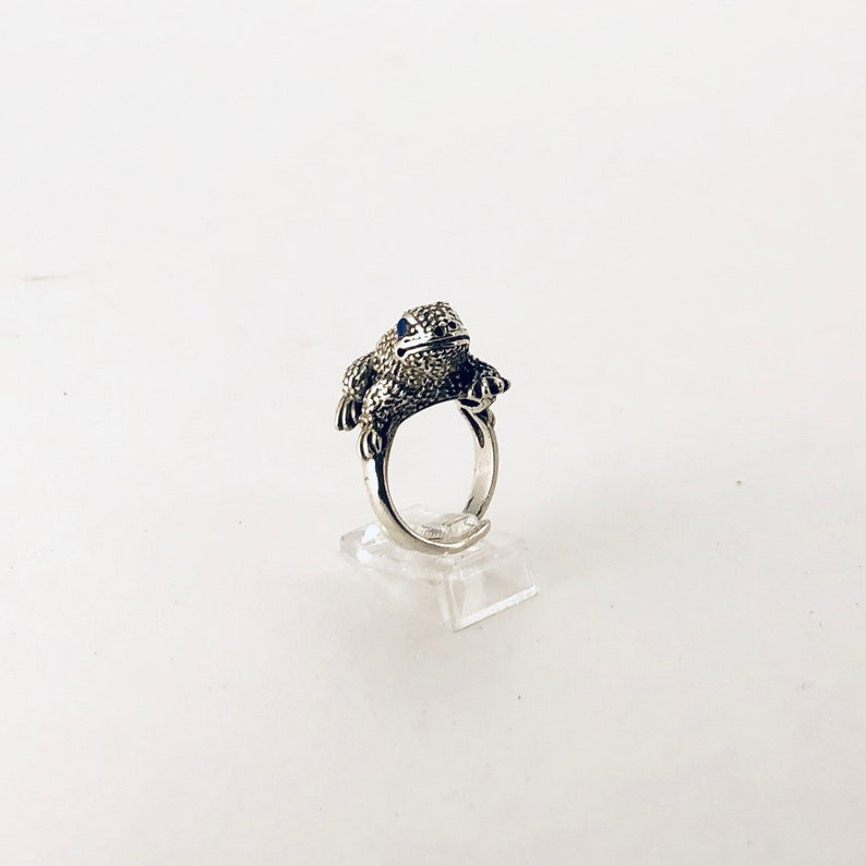 Sterling Silver Frog Bohemian Ring