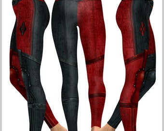c5ff2e0a33bed Harley Quinn inspired Armour Leggings