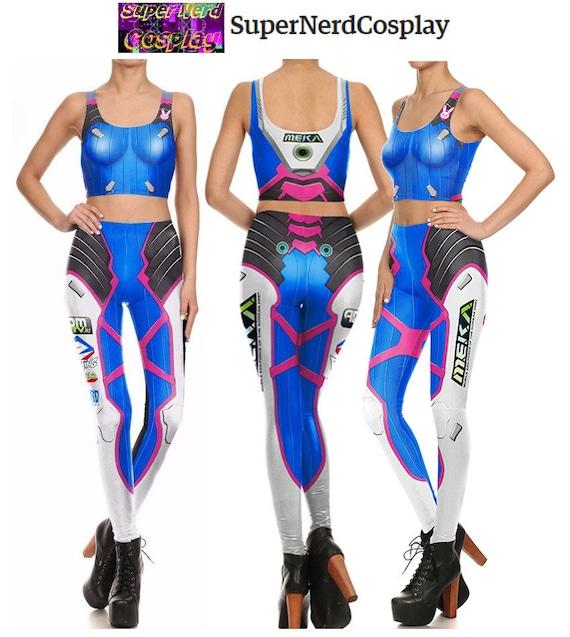 Overwatch D.Va Inspired Yoga Pants And Crop Top