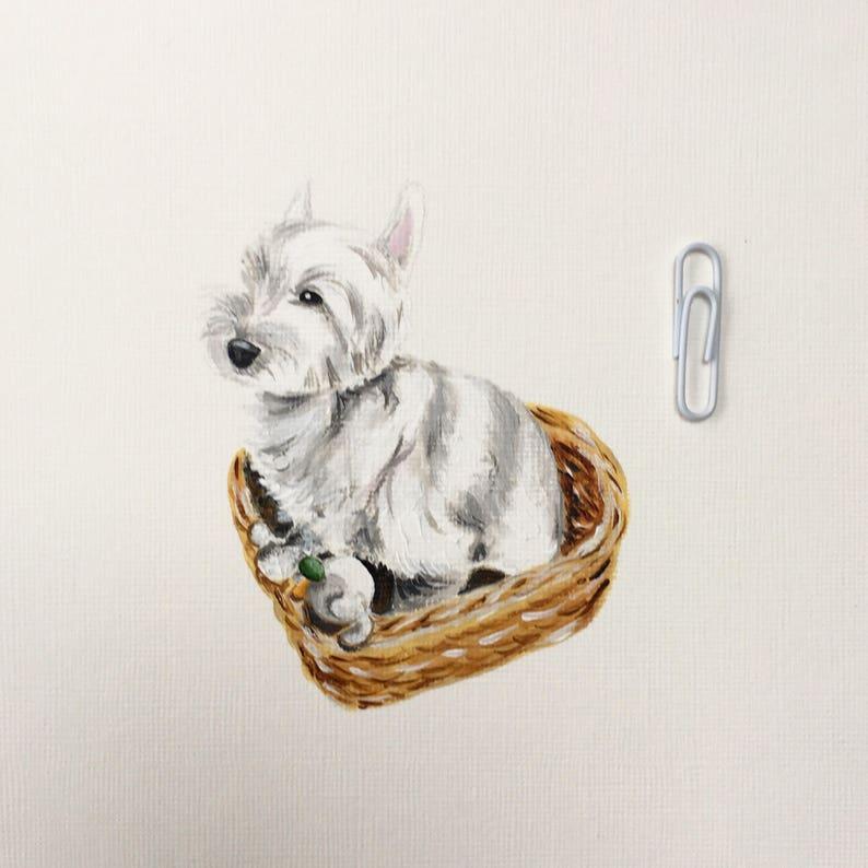 Customised dog / pet painting. Unique original pet painting image 0