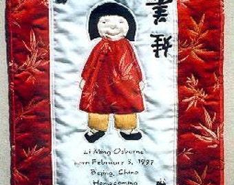International Adoption Quilt Patterns - Chinese Girl