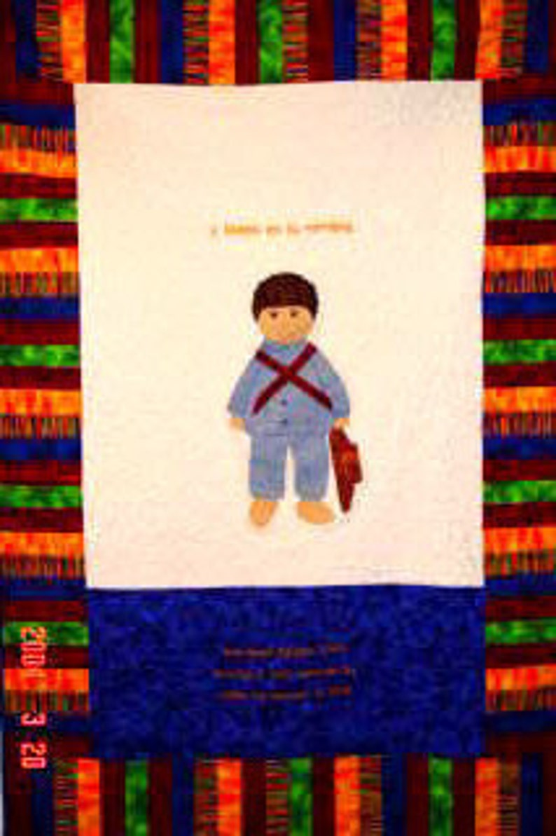 International Adoption Quilt Patterns  Guatemala Boy image 0