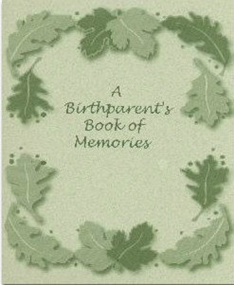 A Birthparent's Book of Memories image 0