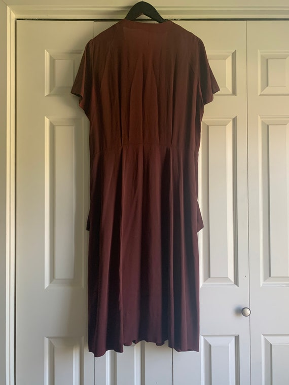 1940s Chocolate Brown Dress (VOLUP!) - image 2