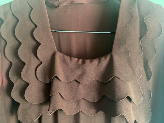 1940s Chocolate Brown Dress (VOLUP!) - image 3