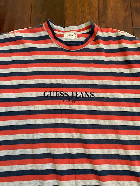 30a4b8c89370 Vintage Guess 3-color Striped Shirt EXTREMELY RARE