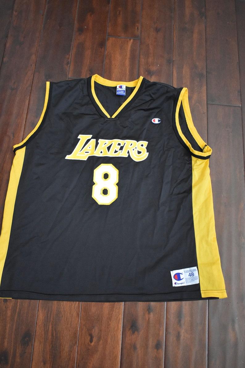 de38ffeceb6 Vintage Kobe Bryant 8 LA Lakers Champion Jersey | Etsy