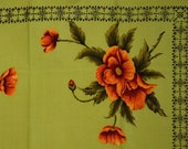 Orange Red Poppies Tablecloth - Vintage Poppy Flowers Square Cloth