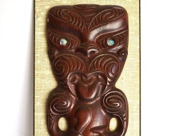 maori new zealand wood carving wall art