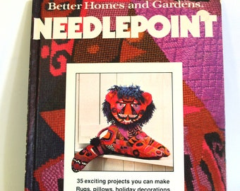 Better Homes and Gardens Needlepoint Book - Vintage Step By Step Instructions DIY Craft Embroidery