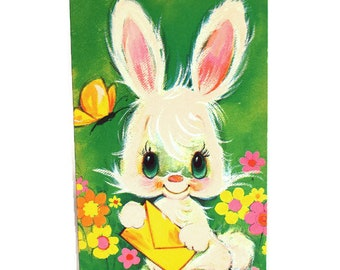 Easter cards etsy au easter bunny card vintage kitsch to grandma cute bunny rabbit flower power greeting card unused m4hsunfo