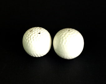 Golf Balls Salt and Pepper Shakers - Vintage Golf Enthusiast Gift Idea S & P