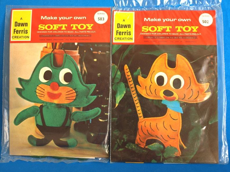 Vintage Dawn Ferris Felt Creation Make Your Own Soft Toy Kits  8cf2030d0