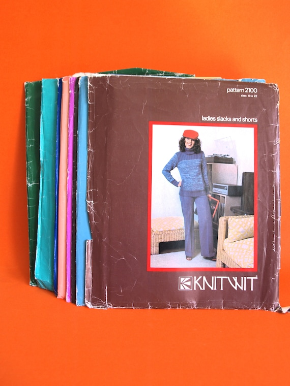 Knitwit Sewing Patterns Bulk Lot of Vintage Clothing Retro | Etsy