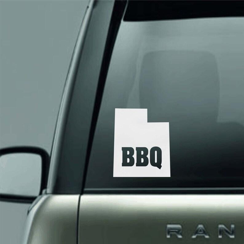 Utah State BBQ Window Decal Sticker