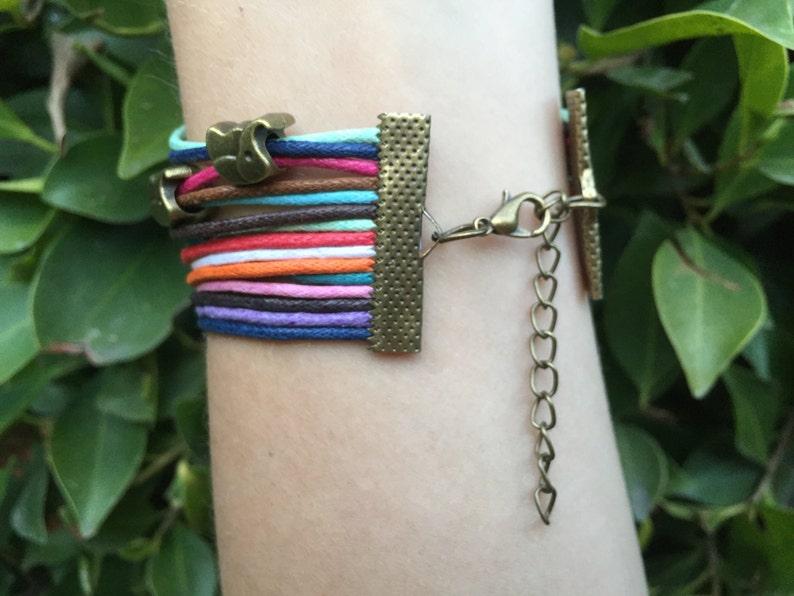 Wrap Bracelet Elephant Bracelet Multilayer Bracelet Elephant Rope Bracelet Elephant Jewelry Wristband 5 Seconds of Summer