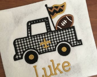 Boys New Orleans Saints Fleur De Leis Football Helmet Applique Etsy